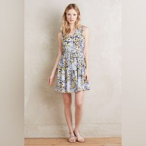 HD In Paris For Anthropologie Floral Ruffle Dress